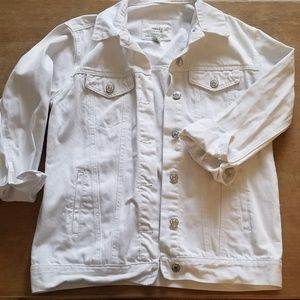 White Denim F21 Jacket
